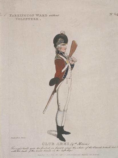 Farrington Ward Without Volunteer Holding a Rifle, 1798-Thomas Rowlandson-Giclee Print