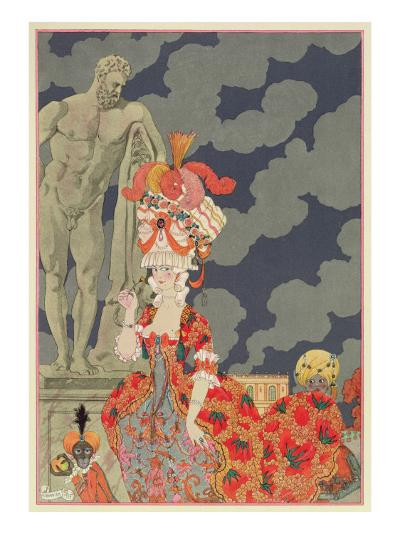 Fashion at its Highest, 1927-Georges Barbier-Giclee Print