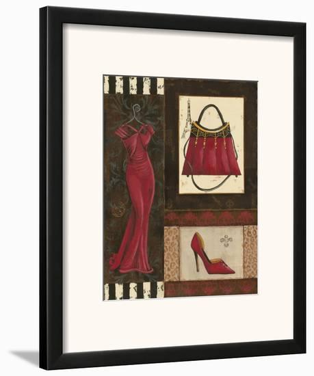 Fashion Collage I-Sophie Devereux-Framed Art Print
