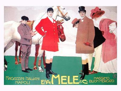 Fashion for the Equestrian Set of Wealthy Patrons-Leopoldo Metlicovitz-Art Print
