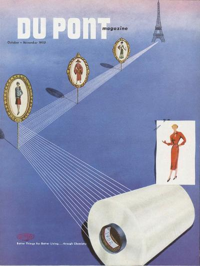 Fashion, Front Cover of the 'Dupont Magazine', October-November 1952--Giclee Print