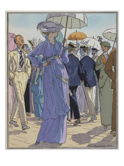 Fashion Illustration of Cheruit's Beach Dress by Pierre Brissanol-Stapleton Collection-Giclee Print