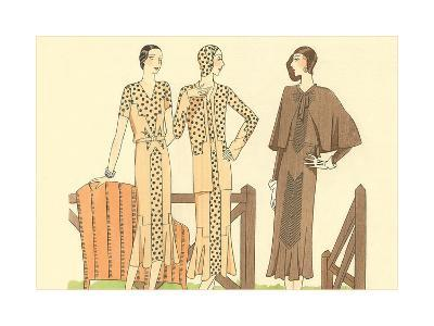 Fashion Illustration, Three Dresses--Art Print