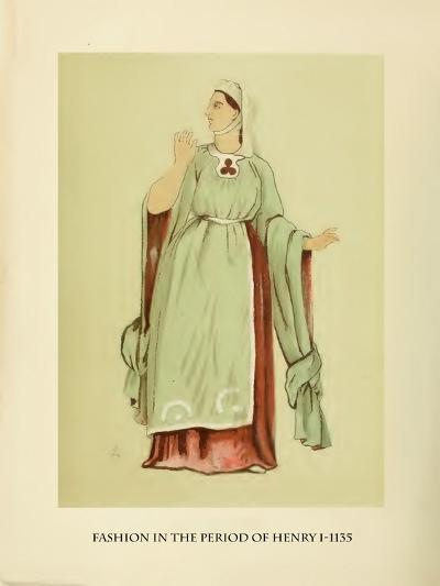 Fashion in the Period of Edward I-Lewis Wingfield-Art Print