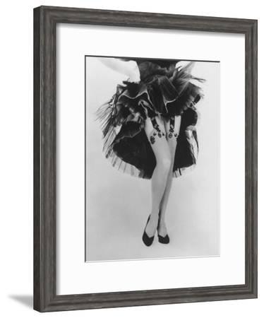 Fashion Shot of Elaborate Garter Made by Andre Richard-Gordon Parks-Framed Premium Photographic Print