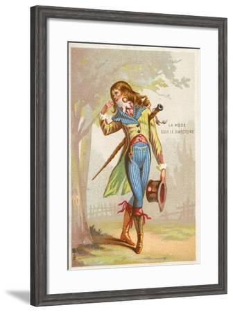 Fashion under the Directory, French Revolution, 1785-1799--Framed Giclee Print
