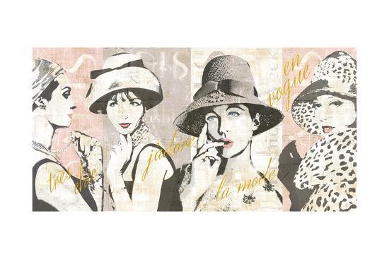 Fashion Week Paris Halftone V-Sue Schlabach-Art Print