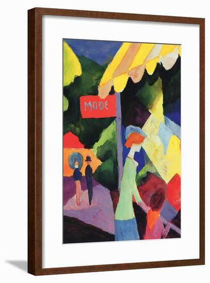 Fashion Window-Auguste Macke-Framed Art Print