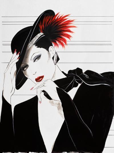 Fashion Women V-Linda Baliko-Art Print