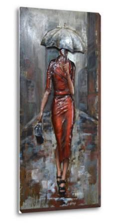 Fashionable in the Rain - Dimensional Metal Wall Art