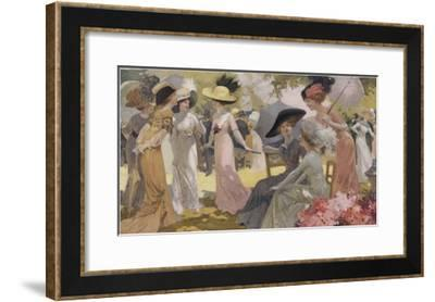 Fashionable Ladies at a Paris Garden Party--Framed Giclee Print