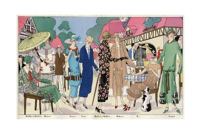 Fashionable Ladies in Designer Outfits--Giclee Print