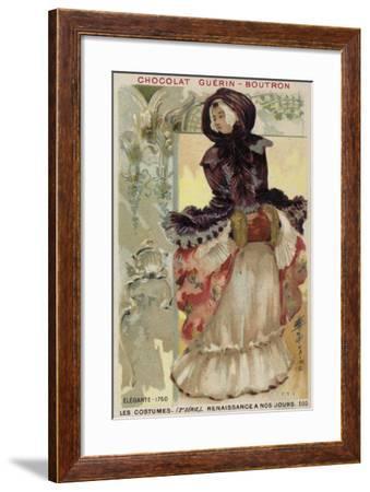 Fashionable Lady, 1750--Framed Giclee Print