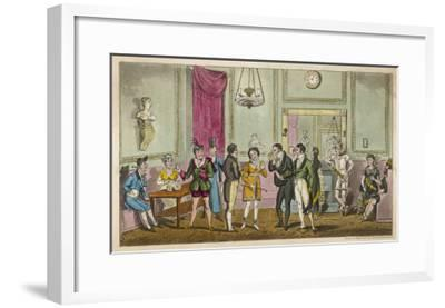 Fashionable Visitors to the Green Room at Drury Lane Theatre, London--Framed Giclee Print