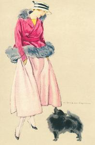 Fashionable Woman with Pomeranian