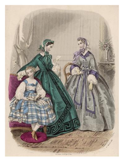 Fashions for Feb. 1861--Giclee Print