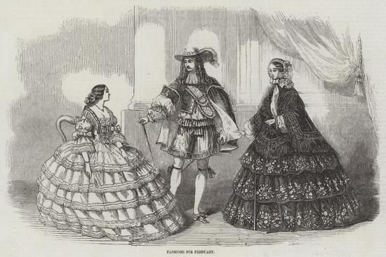 Fashions for February--Giclee Print