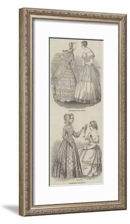 Fashions for July--Framed Giclee Print