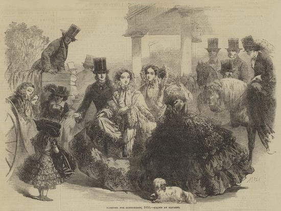 Fashions for Longchamps, 1855--Giclee Print