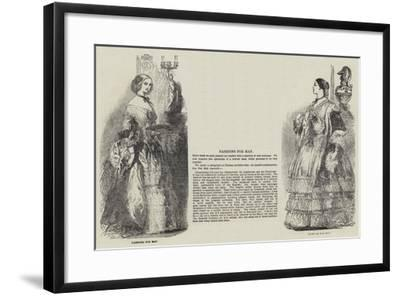 Fashions for May--Framed Giclee Print