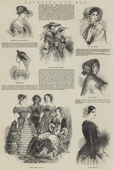 Fashions for May--Giclee Print