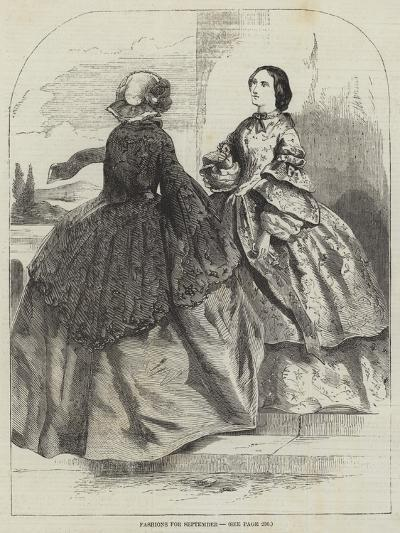 Fashions for September--Giclee Print