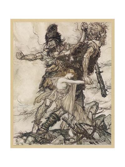 Fasolt and Fafner-Arthur Rackham-Giclee Print