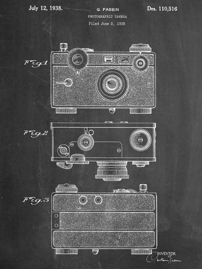 Fassin Photographic Camera Patent--Art Print
