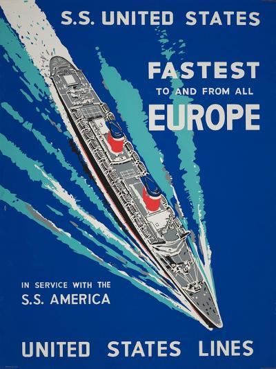 Fastest to and from All Europe--Giclee Print