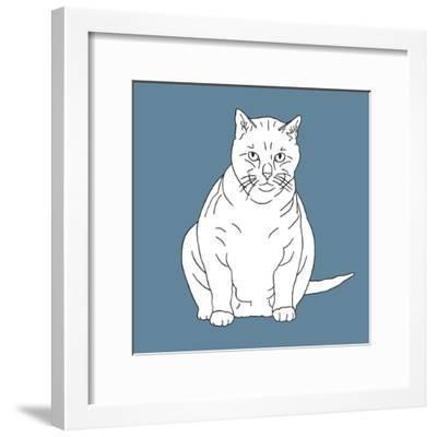 Fat Cat-Anna Nyberg-Framed Art Print