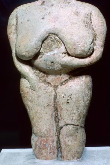 Fat lady statuette, (3500-2300 BC) Artist: Unknown-Unknown-Giclee Print