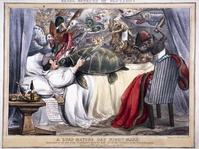 Fatal Effects of Gluttony, a Lord Mayor's Day Night Mare, 1830