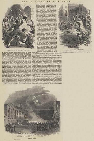 Fatal Riots in New York--Giclee Print