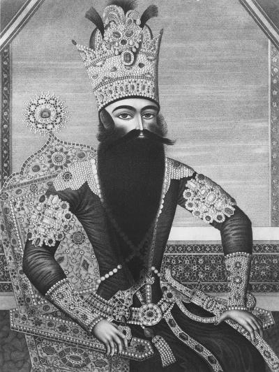 Fath-Ali Shah Qajar-Louis Charles Ruotte-Giclee Print