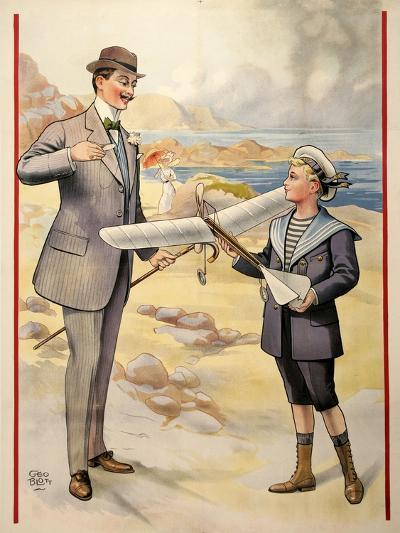 Father and Son Flight-Marcus Jules-Giclee Print
