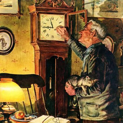 """Father and Time,""March 1, 1946-W^C^ Griffith-Giclee Print"