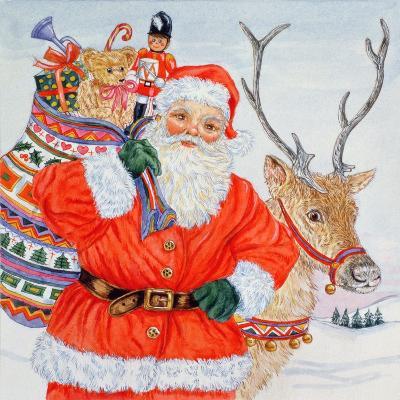 Father Christmas and His Reindeer-Catherine Bradbury-Giclee Print