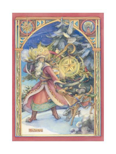 Father Christmas Card-Kim Jacobs-Giclee Print