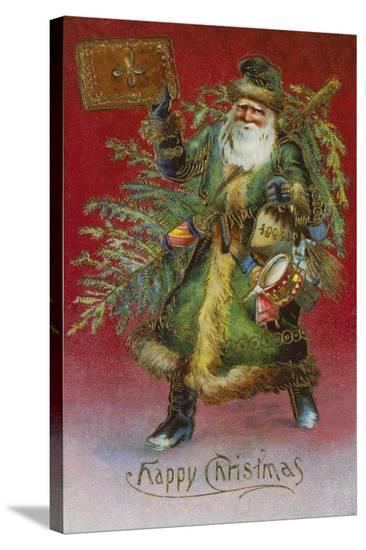 Father Christmas I-The Victorian Collection-Stretched Canvas Print
