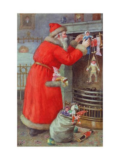 Father Christmas-Karl Roger-Giclee Print