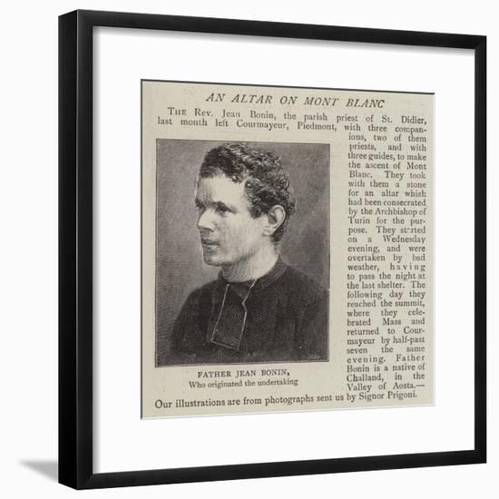 Father Jean Bonin--Framed Giclee Print