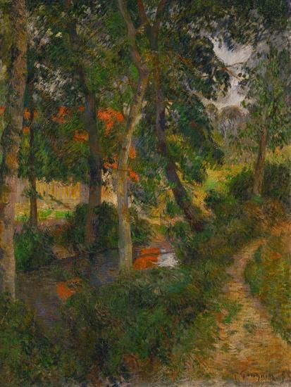 Father Jean's Walk or the Red Roofs, 1886-Paul Gauguin-Giclee Print