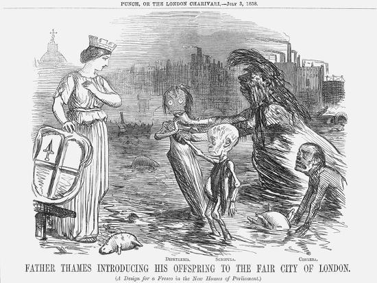 Father Thames Introducing His Offspring to the Fair City of London, 1858--Giclee Print