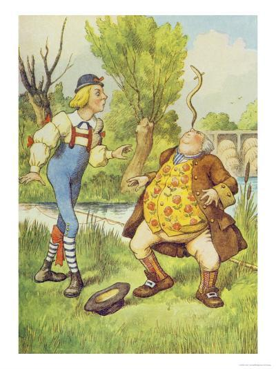 Father William Balancing an Eel on His Nose, Alice in Wonderland by Lewis Carroll-John Tenniel-Giclee Print