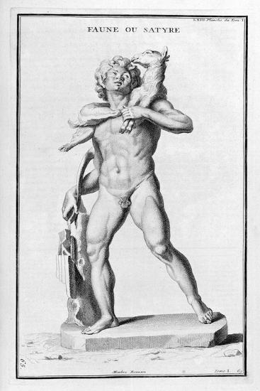 Faun or Satyr, after a Roman Statue, 1757-Bernard De Montfaucon-Giclee Print