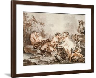 Fauns and Nymphs--Framed Giclee Print