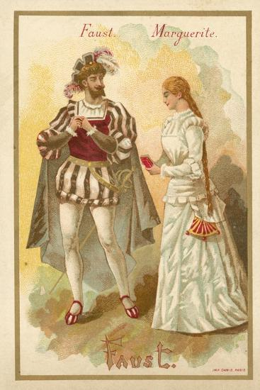 Faust and Margurite, from Charles Gounod's Opera Faust--Giclee Print