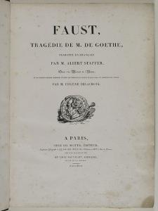 Faust de Goethe, exemplaire ayant appartenu à Delacroix