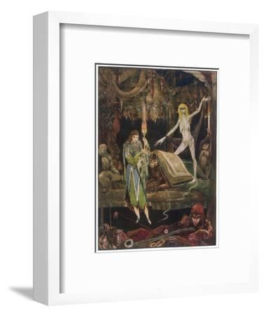 Faust in Witches Kitchen--Framed Giclee Print