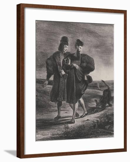 Faust, Méphistophélès et le barbet, 1827-Eugene Delacroix-Framed Giclee Print